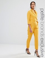 Alter Petite Tailored Jumpsuit With Wrap And Tie Belt Detail