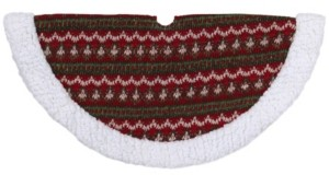 Northlight Lodge Knitted Mini Christmas Tree Skirt with Sherpa Trim