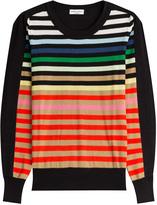 Sonia Rykiel Striped Silk-Cotton Pullover
