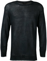 Avant Toi crew neck jumper - men - Linen/Flax - M