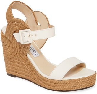 Jimmy Choo Delphi Braided Wedge Sandal