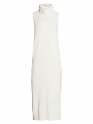 Joan Vass Petite Cowl-Neck Sweater Dress