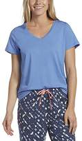 Hue Women's Plus Size Short Sleeve V-Neck Sleep Tee