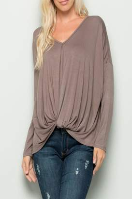 Eesome Twisted V-Neck Top
