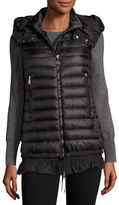 Moncler Amarante Hooded Quilted Down Gilet