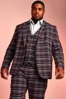 Big & Tall Skinny Fit Tartan Check Blazer