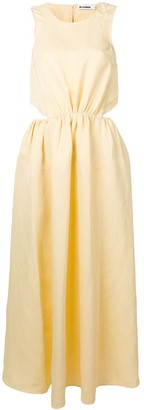 Jil Sander cut-out maxi dress