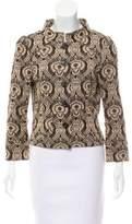 Diane von Furstenberg Metallic Knit Cardigan