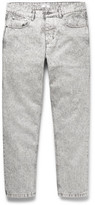 Ami Slim-fit Tapered Cropped Bleached Denim Jeans - Gray