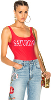 Alberta Ferretti Saturday Swimsuit in Red.