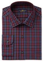 Club Room Men's Big & Tall Classic/Regular Fit Burgundy Moffat Dress Shirt, Only at Macy's
