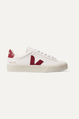 Veja Net Sustain Campo Leather Sneakers - White