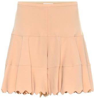 Chloé High-rise crepe shorts