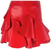 Alexander McQueen ruffled mini skirt - women - Cotton/Lamb Skin - 38