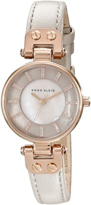 Anne Klein Womens Analogue Quartz Connected Wrist Watch with Leather Strap AK/N1950RGTP
