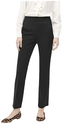 J.Crew Remi Pants in Bi-Stretch Cotton (Black) Women's Casual Pants