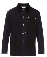 Givenchy Stud-embellished Bi-colour Denim Jacket