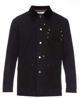 Givenchy Stud-embellished bi-colour denim jacket
