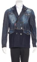 DSQUARED2 Wool-Paneled Denim Jacket