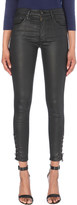 AG Jeans Farrah lace-up skinny high-rise leatherette jeans