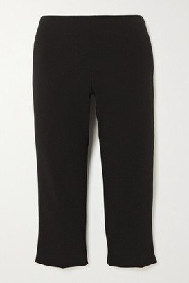 The Row Cappo Cropped Cady Pants - Black