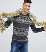 Selected TALL Knitted Holidays Sweater In 100% Cotton