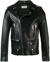 Saint Laurent Classic motorcycle jacket - men - Cotton/Calf Leather/Cupro - 48