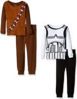 Star Wars Boys' 4-Piece Cotton Pajama Set