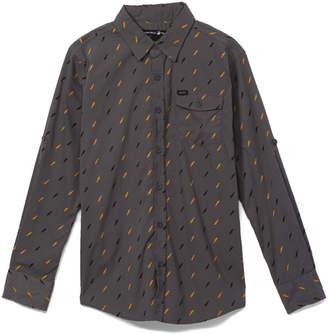 Beverly Hills Polo Club Boys' Button Down Shirts CASTLE - Castle Rock & Yellow Lightning Bolt Long-Sleeve Button-Up - Boys