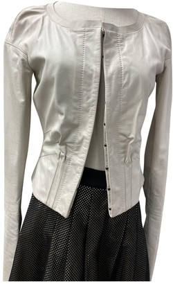 Gucci White Leather Jackets