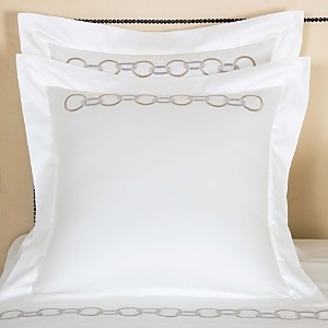 Frette Links Embroidery Euro Sham