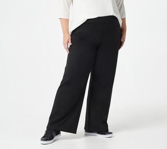 Isaac Mizrahi Live! Tall SOHO Plushed Back Wide Leg Pants