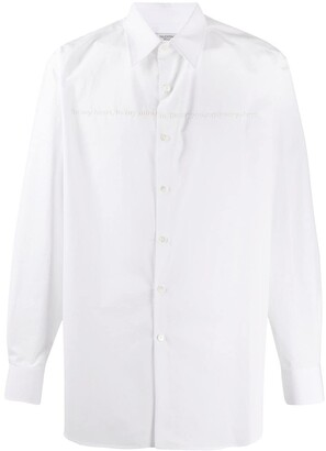 Valentino Poetry Embroidery Buttoned Shirt