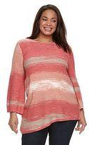 Dana Buchman Plus Size Tape-Yarn Sweater