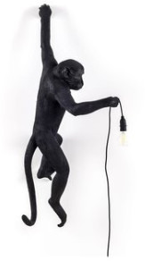 Seletti Black Aplampa Monkey Outdoor Lamp