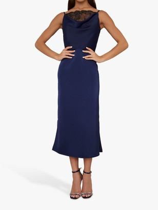 Chi Chi London Torie Dress, Navy