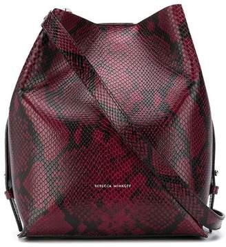 Rebecca Minkoff Kate snakeskin effect bucket bag