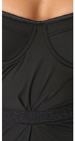 Zimmermann Noir Tucked One Piece Swimsuit