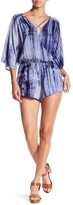 Honey Punch Surplice Neck Tie-Dye Romper