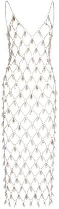 Paco Rabanne Sequin-Detail Chain Midi Dress