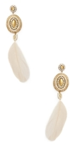 Deepa Gurnani Beaded & Feather Statement Earrings