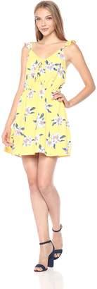 Blu Pepper Women's Floral Dress with A Line Skirt