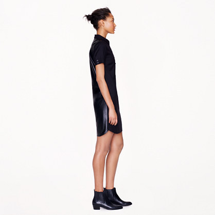 J.Crew Collection leather-back shirtdress