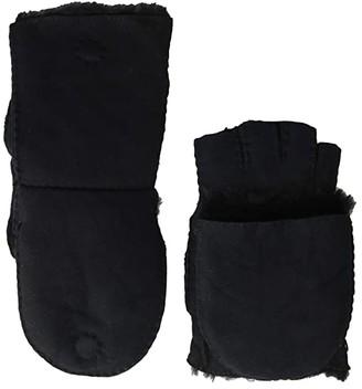 UGG Sheepskin Flip Mitt (Black) Extreme Cold Weather Gloves