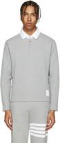 Thom Browne Grey Round Collar Polo