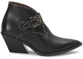 Givenchy Elegant Studded Leather Western Boots