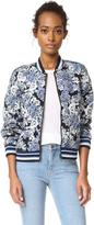 Blank Floral Bomber Jacket