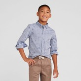 Cat & Jack Boys' Long Sleeve Woven Button Down Shirt - Cat & Jack Chambray
