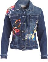 Live A Little Blue Butterfly-Accent Denim Jacket
