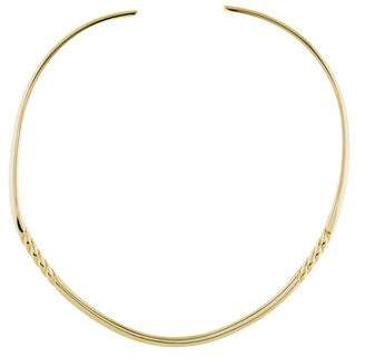 David Yurman 18K Sculpted Collar Necklace